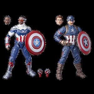 [Marvel Legends Action Figure 2-Pack: Captain America (Product Image)]