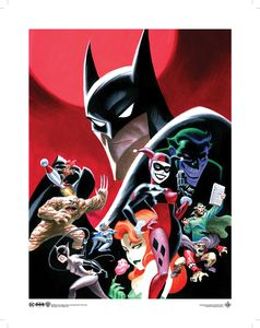 [Batman: The Animated Series: Art Print: Villains (Product Image)]