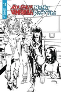[Red Sonja & Vampirella Meet Betty & Veronica #11 (Braga Black & White Variant) (Product Image)]