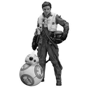 [Star Wars: The Force Awakens: ArtFX+ Statue: Poe Dameron & BB-8 (Product Image)]