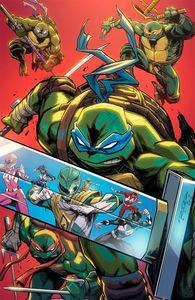 [Power Rangers/Teenage Mutant Ninja Turtles #4 (Randolph Variant) (Product Image)]