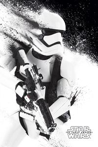 [Star Wars: The Force Awakens: Poster: Stormtrooper Paint (Product Image)]