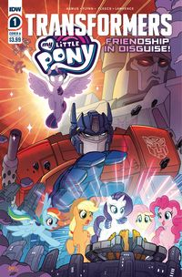 [The cover for My Little Pony/Transformers #1 (Cover A Fleecs)]