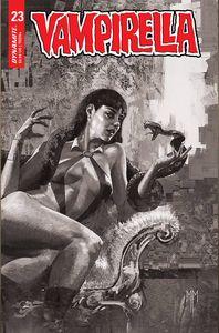 [Vampirella #23 (Cover J Mastrazzo Black & White Variant) (Product Image)]