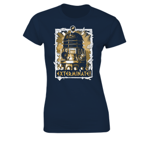 [Doctor Who: Women's Fit T-Shirt: Daleks Exterminate! (Product Image)]