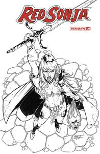 [Red Sonja #27 (Premium Miracolo Black & White Variant) (Product Image)]