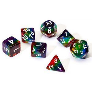 [Translucent Dice Set: Rainbow (Product Image)]
