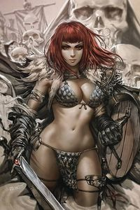 [Red Sonja Vampirella #1 (Chew Virgin Variant) (Product Image)]