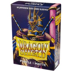 [Dragon Shield: Matte Japanese Size Sleeves 60 Pack: Purple (Product Image)]