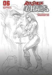 [Red Sonja: Age Of Chaos #6 (Parrillo Black & White Variant) (Product Image)]