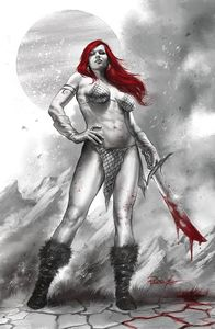 [Red Sonja: Black White Red #1 (Cover L Parrillo Limited Virgin Variant) (Product Image)]