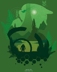 [Halo Infinite: 60x80 Canvas Print: Lakeside (Product Image)]