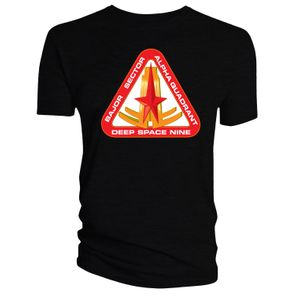 [Star Trek: Deep Space Nine: T-Shirt: Bajor Sector (Black) (Product Image)]