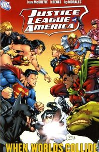 [JLA: When Worlds Collide (Hardcover - Titan Edition) (Product Image)]