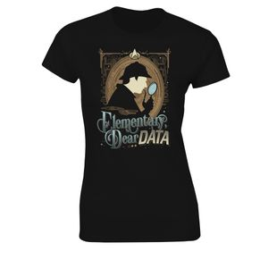 [Star Trek: The Next Gerneration: Women's Fit T-Shirt: Elementary Dear Data (Product Image)]