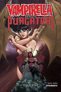 [Vampirella Vs Purgatori #5 (Cover K Premium Sarraseca Variant) (Product Image)]