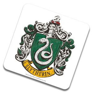 [Harry Potter: Ceramic Coaster: Slytherin House Crest (Product Image)]