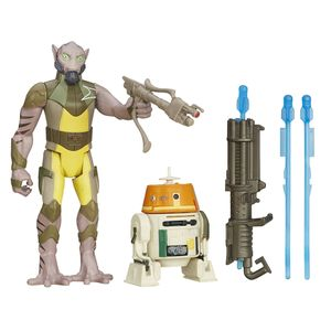 [Star Wars: The Force Awakens: Wave 1 Action Figure 2 Packs: Garazeb Orrelios & C1-10P Chopper (Product Image)]