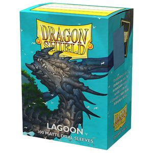 [Dragon Shield: 100 Matte Dual Sleeves: Lagoon (Product Image)]