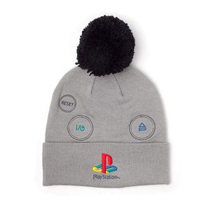 [PlayStation: Beanie With Pompom: Silver Logo (Product Image)]