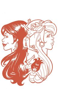 [Red Sonja & Vampirella Meet Betty & Veronica #8 (Parent Red Tint Variant) (Product Image)]