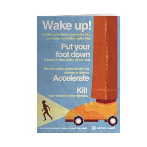 [Scarfolk: Greetings Card: Wake Up! (Product Image)]
