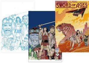 [Sword Of Ages #1 (Forbidden Planet/Jetpack Color, Sketch & Preview Variant Set) (Product Image)]