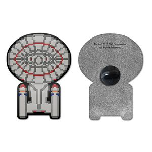 [Star Trek: The Next Generation: Badge: 8-Bit Enterprise (Product Image)]