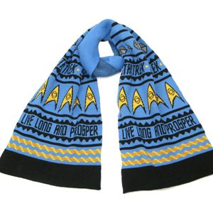 [Star Trek: Knitted Scarf: Live Long & Prosper (Product Image)]