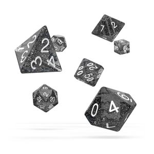 [Oakie Doakie Dice: RPG 7 Set: Speckled Black (Product Image)]