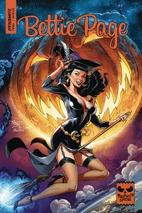 [The cover for Bettie Page: Halloween Special: One Shot (Cover A Royle)]