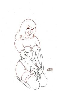 [Bettie Page #2 (Linsner Black & White Variant) (Product Image)]