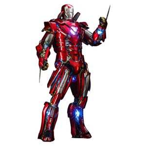 [Iron Man 3: Hot Toys 1/6 Scale Action Figure: Silver Centurion Armour Suit Up (Product Image)]