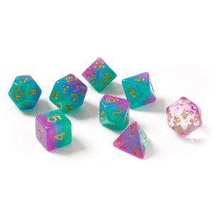 [Sirius Dice: Polyhedral Dice Set: Northern Lights (Product Image)]