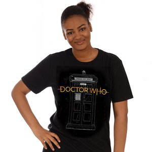 [Doctor Who: 13th Doctor: T-Shirt: Logo & TARDIS (Product Image)]