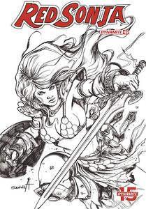 [Red Sonja: Birth Of She Devil #3 (Davila Black & White Variant) (Product Image)]