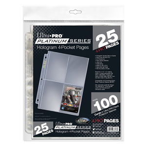 [Ultra Pro: Platinum Series: Hologram 4-Pocket Pages (25 Page Pack) (Product Image)]