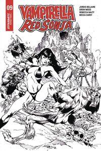 [Vampirella/Red Sonja #9 (Castro Black & White Variant) (Product Image)]