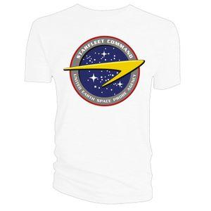 [Star Trek: Enterprise: T-Shirt: Starfleet Command (White) (Product Image)]