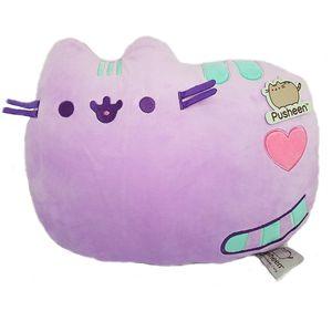 [Pusheen: Cushion: Purple Smile (Product Image)]