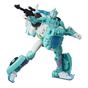 [Transformers: Generations: Power Of The Primes Deluxe Action Figure: Moonracer (Product Image)]
