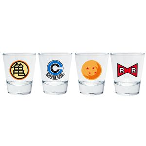 [Dragon Ball: Shot Glasses: Emblem (4 Pack) (Product Image)]
