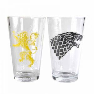 [Game Of Thrones: Set Of 2 Glasses: Stark & Lanister (Product Image)]