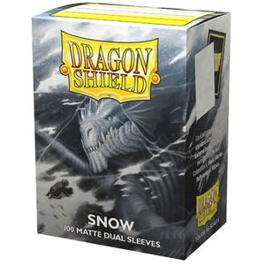 [Dragon Shield: 100 Matte Dual Sleeves: Snow (Product Image)]