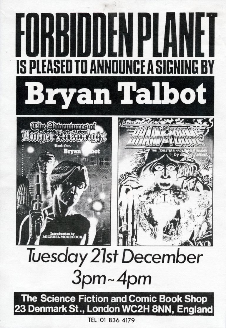 Bryan Talbot Signing The Adventures of Luther Arkwright