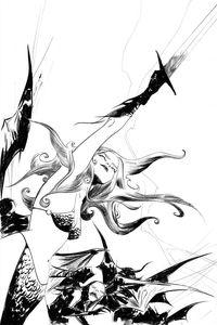 [Vampirella/Red Sonja #8 (Lee B&W Virgin Variant) (Product Image)]