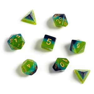 [Sirius Dice: Polyhedral Dice Set: Green & Blue Translucent (Product Image)]