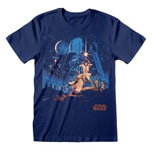 [Star Wars: A New Hope: T-Shirt: Vintage Characters (Product Image)]
