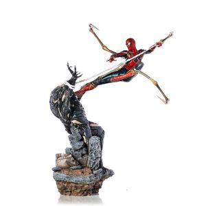 [Avengers: Endgame: Art Scale Statue: Iron Spider Vs Outrider (Product Image)]