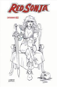 [Red Sonja #24 (Linsner Black & White Variant) (Product Image)]